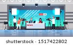 male presenter interviewing... | Shutterstock .eps vector #1517422802