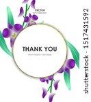 orchid flower card  vector...   Shutterstock .eps vector #1517431592