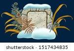 stone board decoration... | Shutterstock .eps vector #1517434835