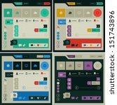 modern flat design ui template  ...