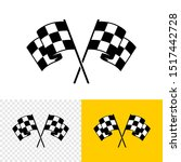 checkered race flags crossed.... | Shutterstock .eps vector #1517442728