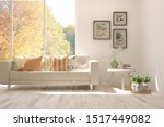 stylish room in white color... | Shutterstock . vector #1517449082