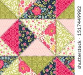 seamless pattern with... | Shutterstock .eps vector #1517449982