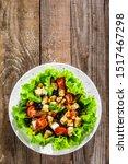 Caesar Salad White Plate On...