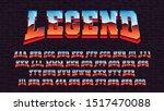 retro futuristic latin font ... | Shutterstock .eps vector #1517470088