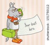 dog traveler | Shutterstock .eps vector #151750112