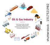 oil gas industry concept banner ... | Shutterstock .eps vector #1517521982