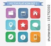 vector flat icon set 2