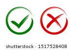 check mark  tick and cross... | Shutterstock .eps vector #1517528408