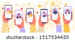 online dating service... | Shutterstock .eps vector #1517534435