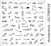 vector set of hand drawn arrows  | Shutterstock .eps vector #1517580518
