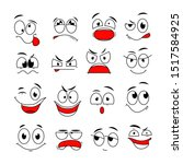 cartoon face expression. funny...   Shutterstock .eps vector #1517584925