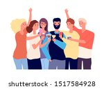 Drinking Friends. Group Of...