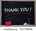 Thank You Written With Chalk O...
