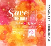 save the date for personal... | Shutterstock .eps vector #151759322