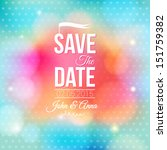 save the date for personal... | Shutterstock .eps vector #151759382