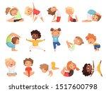 Yoga Kids. Children Making...