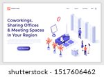 landing page template with... | Shutterstock .eps vector #1517606462