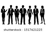 vector silhouettes of  men and... | Shutterstock .eps vector #1517621225
