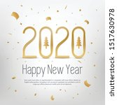 happy new year 2020 greeting... | Shutterstock .eps vector #1517630978