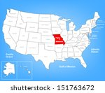 vector map of the united states ... | Shutterstock .eps vector #151763672