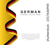 germany happy unity day ... | Shutterstock .eps vector #1517636945