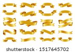 gold ribbon scroll realistic... | Shutterstock .eps vector #1517645702