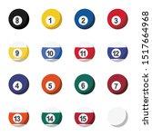 colorful billiard balls...