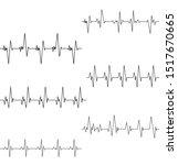 Pulse Line Vector Template....