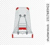 red supermarket shopping cart.... | Shutterstock .eps vector #1517685422