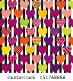 seamless pattern of hearts | Shutterstock .eps vector #151768886