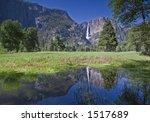 upper yosemite falls reflection | Shutterstock . vector #1517689