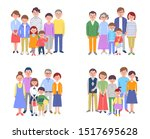 four sets of three generation... | Shutterstock . vector #1517695628