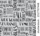 fall words seamless repeat... | Shutterstock .eps vector #1517707448