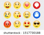 emoji feeling faces vector.... | Shutterstock .eps vector #1517730188