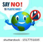say no to plastic bag.... | Shutterstock .eps vector #1517751035
