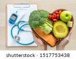 keto food for ketogenic diet or ... | Shutterstock . vector #1517753438