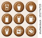 set of coffee cup icon on... | Shutterstock .eps vector #151776725