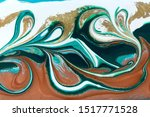 bronze  blue and gold marble... | Shutterstock . vector #1517771528