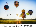 a lot of balloons start they... | Shutterstock . vector #151777982
