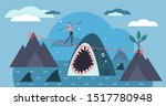 risk vector illustration. flat... | Shutterstock .eps vector #1517780948