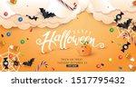 halloween decorative border... | Shutterstock .eps vector #1517795432
