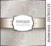 vintage ornamental background... | Shutterstock .eps vector #1517812115