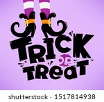 trick or treat vector lettering ... | Shutterstock .eps vector #1517814938