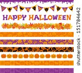 halloween decorations | Shutterstock .eps vector #151784642