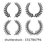 laurel wreaths  vector isolated | Shutterstock .eps vector #151786796