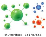 abstract colorful molecules.... | Shutterstock .eps vector #151787666