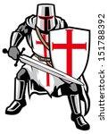 templar knight | Shutterstock .eps vector #151788392