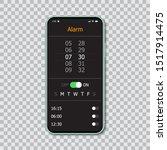 smartphones with mockup alarm...