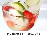 glass with ice cubes  lime and... | Shutterstock . vector #1517941